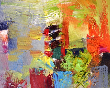 abstract art - hand painted canvas photo