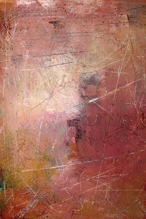 Graffiato acrilico e livelli di pitture a olio - hanno Archivio Fotografico - 8573035