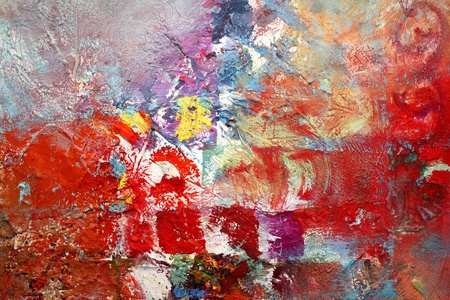 acrylic and oil paints in different layers photo