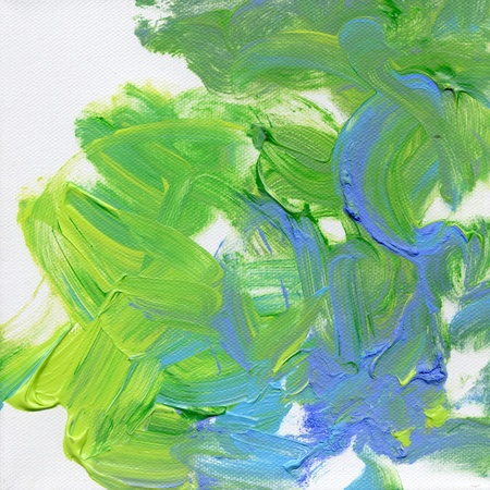 blue and green acrylics hand painted on canvas Stock Photo - 8573039