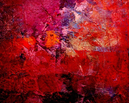 abstract painting: abstract art - hand painted canvas