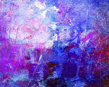 Arte astratta - tele dipinte a mano Archivio Fotografico - 8603420