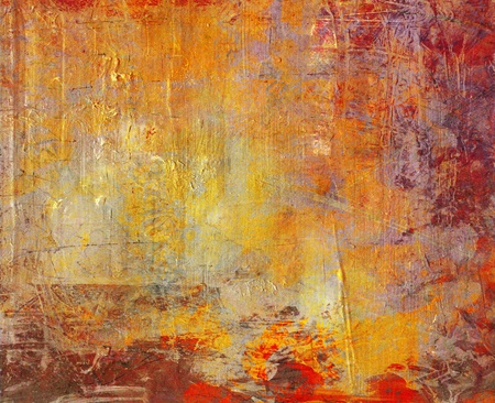 hand painted background grunge on canvas photo