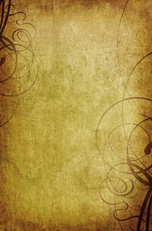 vintage background with swirls - old paper grunge