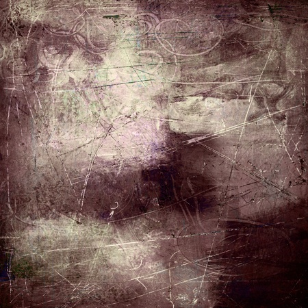 grunge textures: painted and scratched mixed media collage Stock Photo