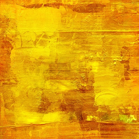 grunge textures: gold paint on wooden panel