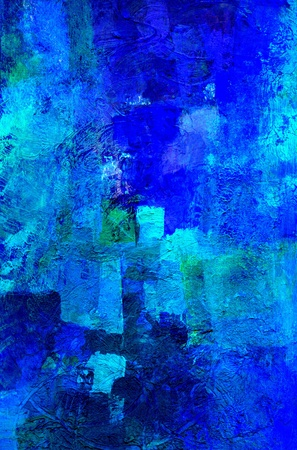 ultramarine blue: abstract art - hand painted background Stock Photo
