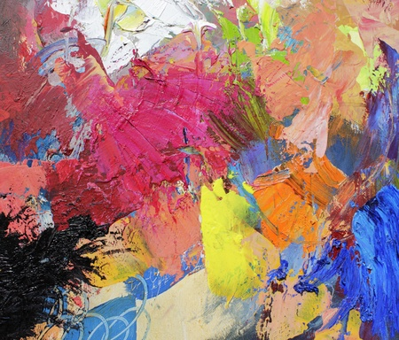 abstract art - hand painted canvas