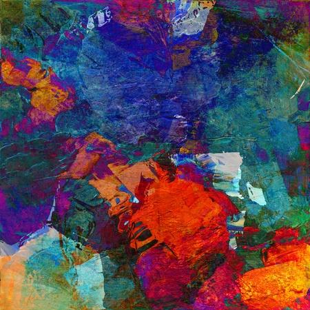 abstract art - mixed media grunge photo