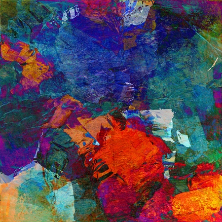 cuadro abstracto: arte abstracto - mixta grunge