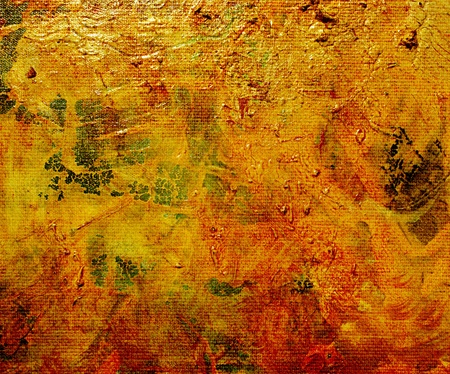 oil paints in different layers on canvas background photo