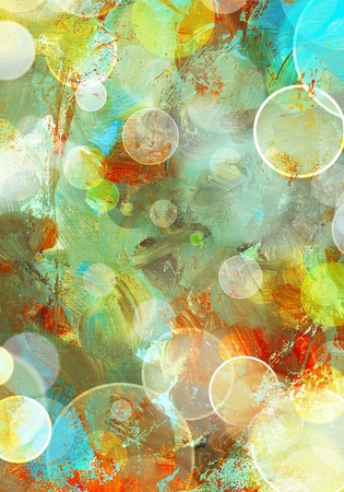abstract painted background - created by combining different layers of paint Stock Photo
