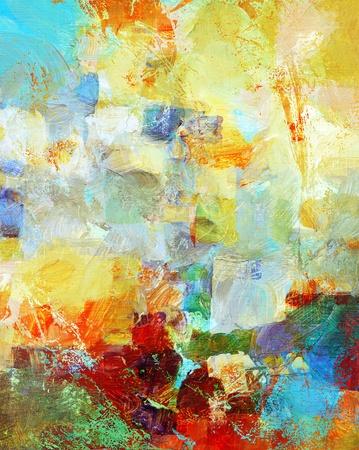 mixed media - de hand geschilderde achtergrond