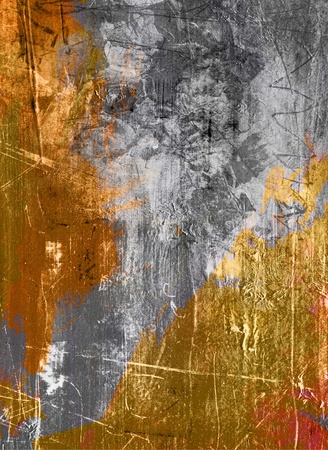gold textures: scratched gray gold grunge painting