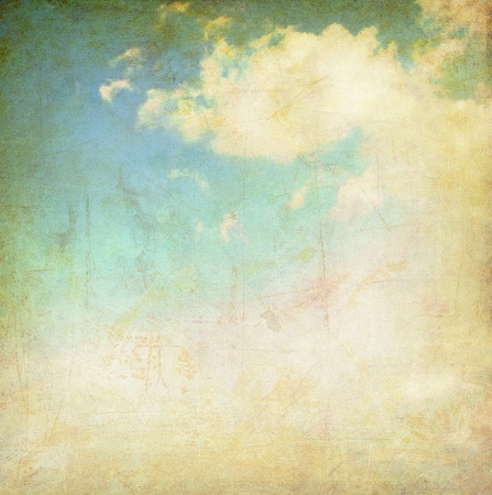 vintage background collage - cloudy sky photo