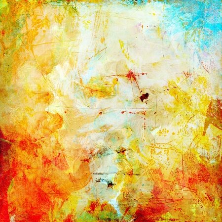 background textures: abstract painted and textured background grunge Stock Photo