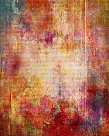grunge textures: paint textures on canvas structure - mixed media Stock Photo