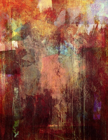 acrylic painting: abstract painted background - created by combining different layers of paint Stock Photo