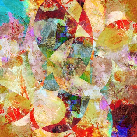 textures toegevoegd op geschilderde achtergrond