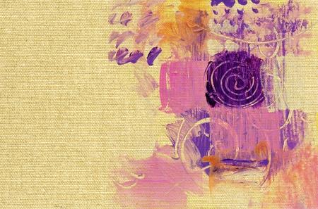 colorful paint glazes on canvas structure