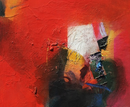analoge abstract schilderij Stockfoto