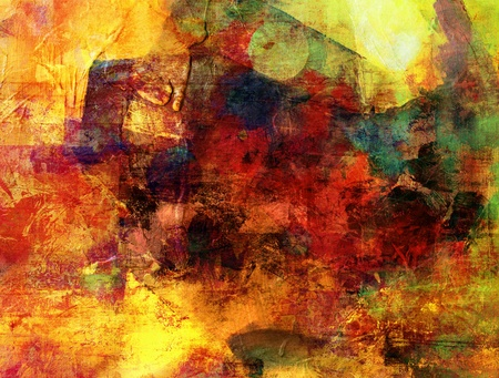 abstract painting - created by combining different layers of paint 版權商用圖片