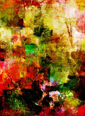 abstract painting - hand painted on canvas photo