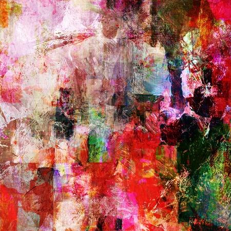 abstracte kunst - mixed media grunge Stockfoto