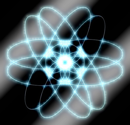 PROTON: abstract atom graphic - background with circles and dots pattern