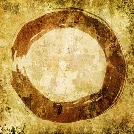 enso: hand painted zen circle on ambient background
