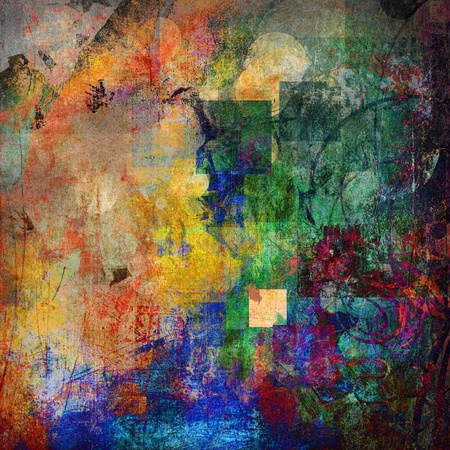 abstract painted background - created by combining different layers of paint Stockfoto