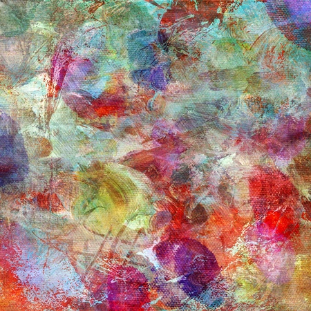 abstract painting - mixed media grunge on canvas