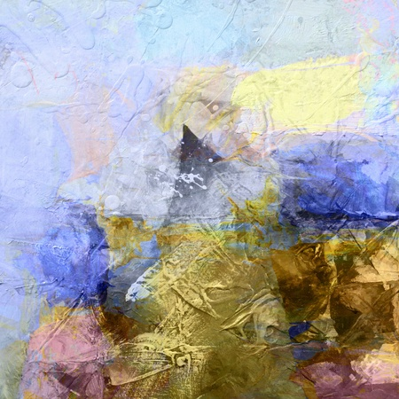 abstract paintings: colorful abstract painted background - created by combining different layers of paint