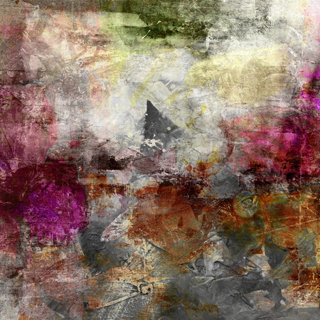 abstract paintings: abstract painting - mixed media grunge