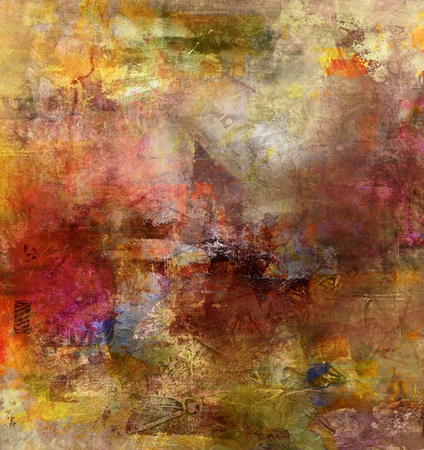 abstract paintings: abstract painted background - created by combining different layers of paint Stock Photo