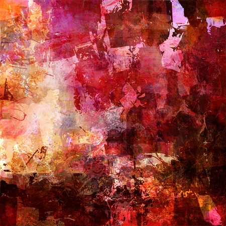 CUADROS ABSTRACTOS: pintura abstracta - mixed media grunge Foto de archivo