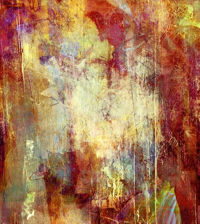 grunge textures: abstract background - created by combining different layers of paint