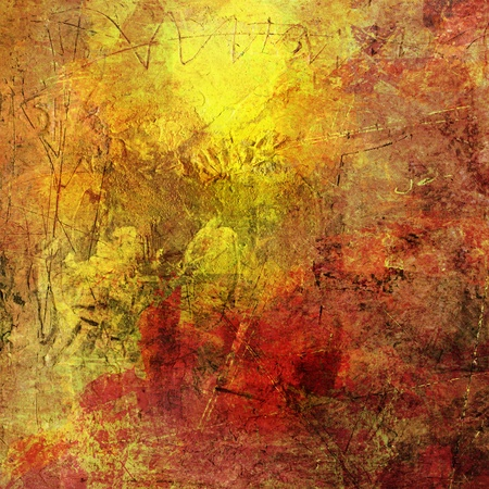 painted background with different textures added Stock Photo - 13509825