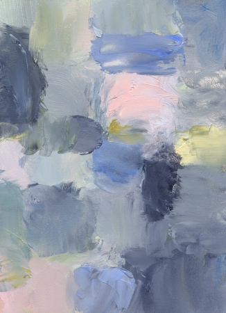 hardboard: oil paints on hardboard - abstract painting