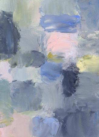 olieverf op hardboard - abstract schilderij