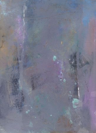 hardboard: abstract oil paints on scratched hardboard