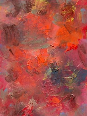 glazes: oil paint glazes and acrylics on hardboard Stock Photo
