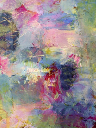 analog abstract painting, textures added digitally - mixed media Stock Photo - 14544634