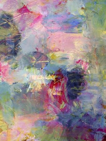 analoge abstracte schilderkunst, texturen toegevoegd digitaal - mixed media