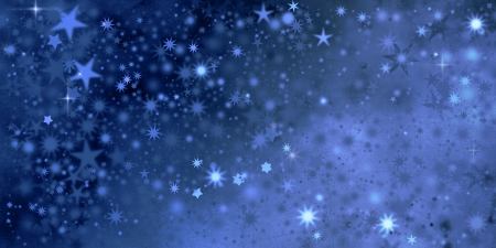 xmas stars in blue colors and different shapes photo
