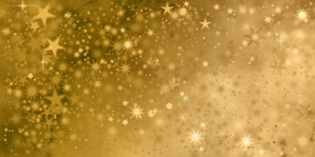 gold textures: xmas stars in golden colors and different shapes Stock Photo