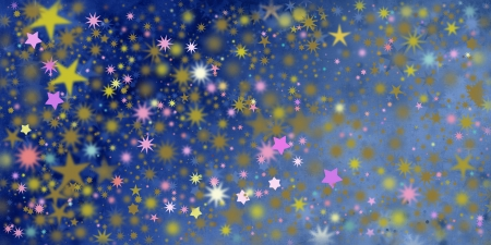 twinkles: stars in different colors and shapes Stock Photo