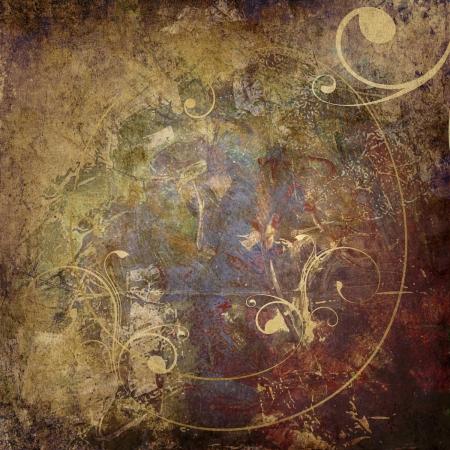 grunge textures: vintage background - ornamental graphic on grunge background