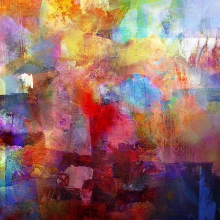 combining: abstract painted background - created by combining different layers of paint Stock Photo
