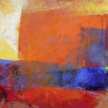 lagen met olieverf - abstract schilderij